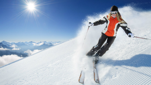 Woman skiing
