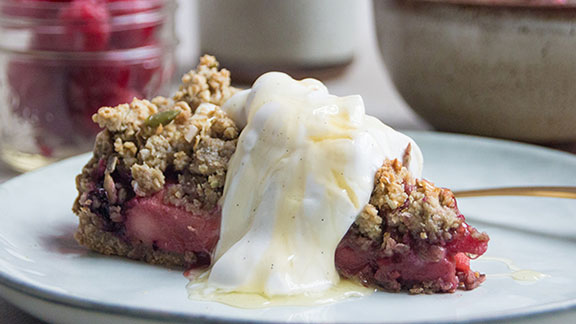 Deliciously Ella crumble tart recipe